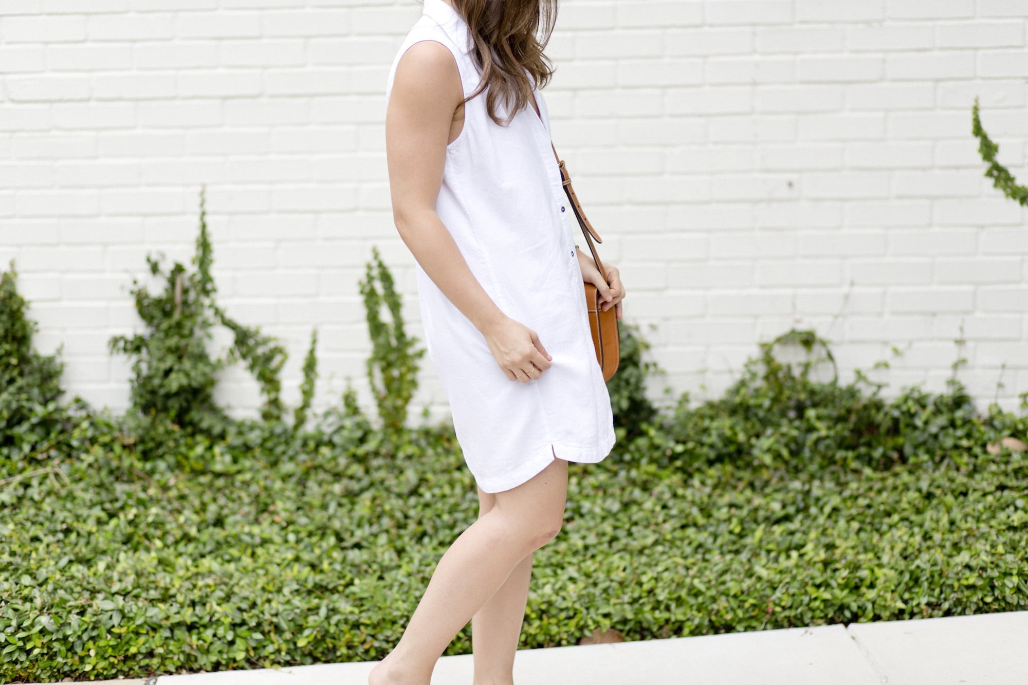 A Dash of Details in White Shirt Dress