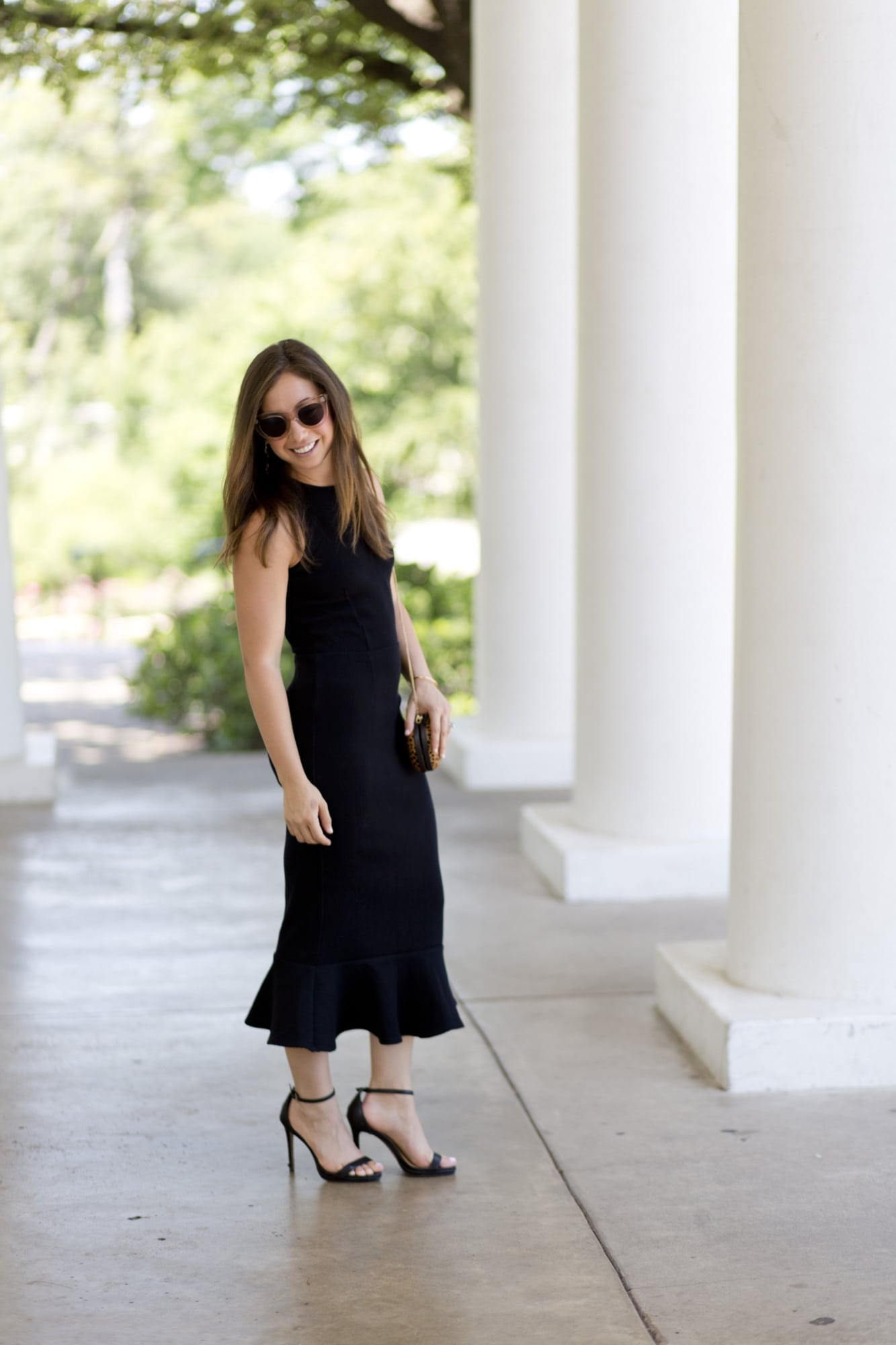 Dark Refined Flutter Dress