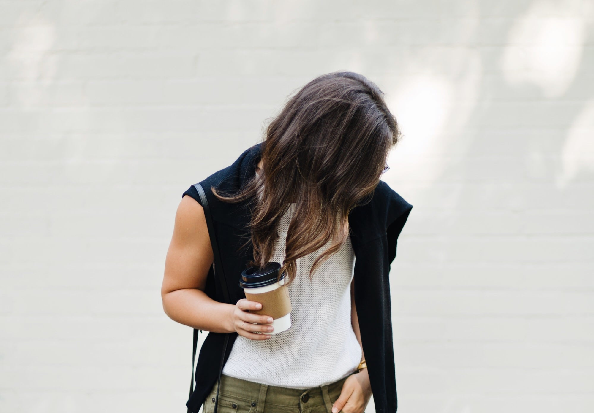 White Sleeveless Sweater on A Dash of Details