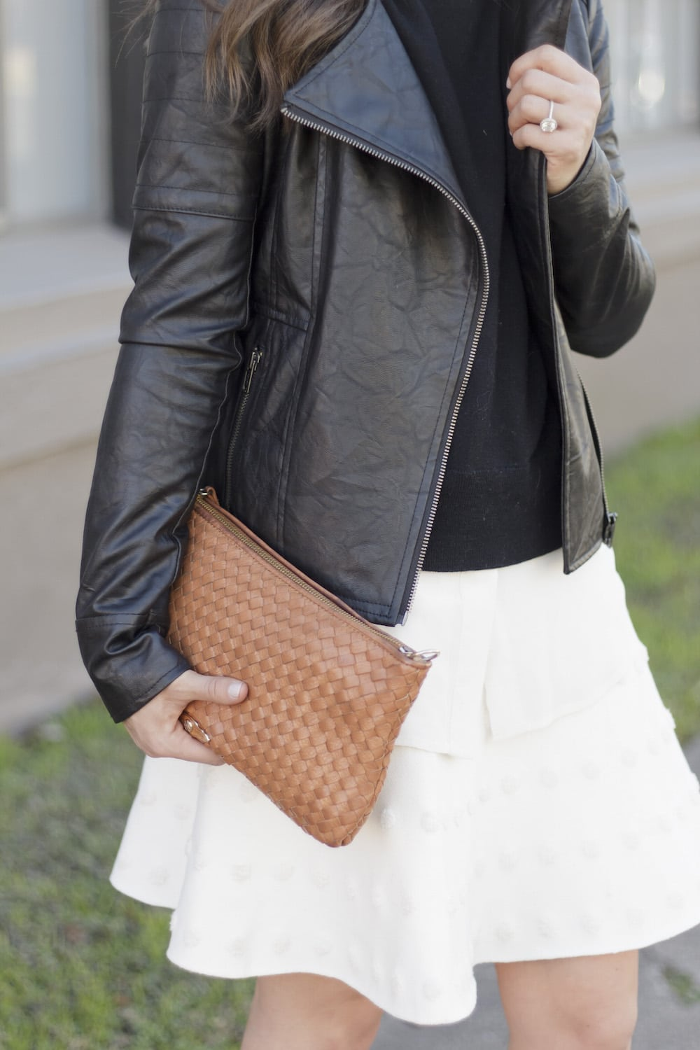 Leather Jacket and White Skirt_13