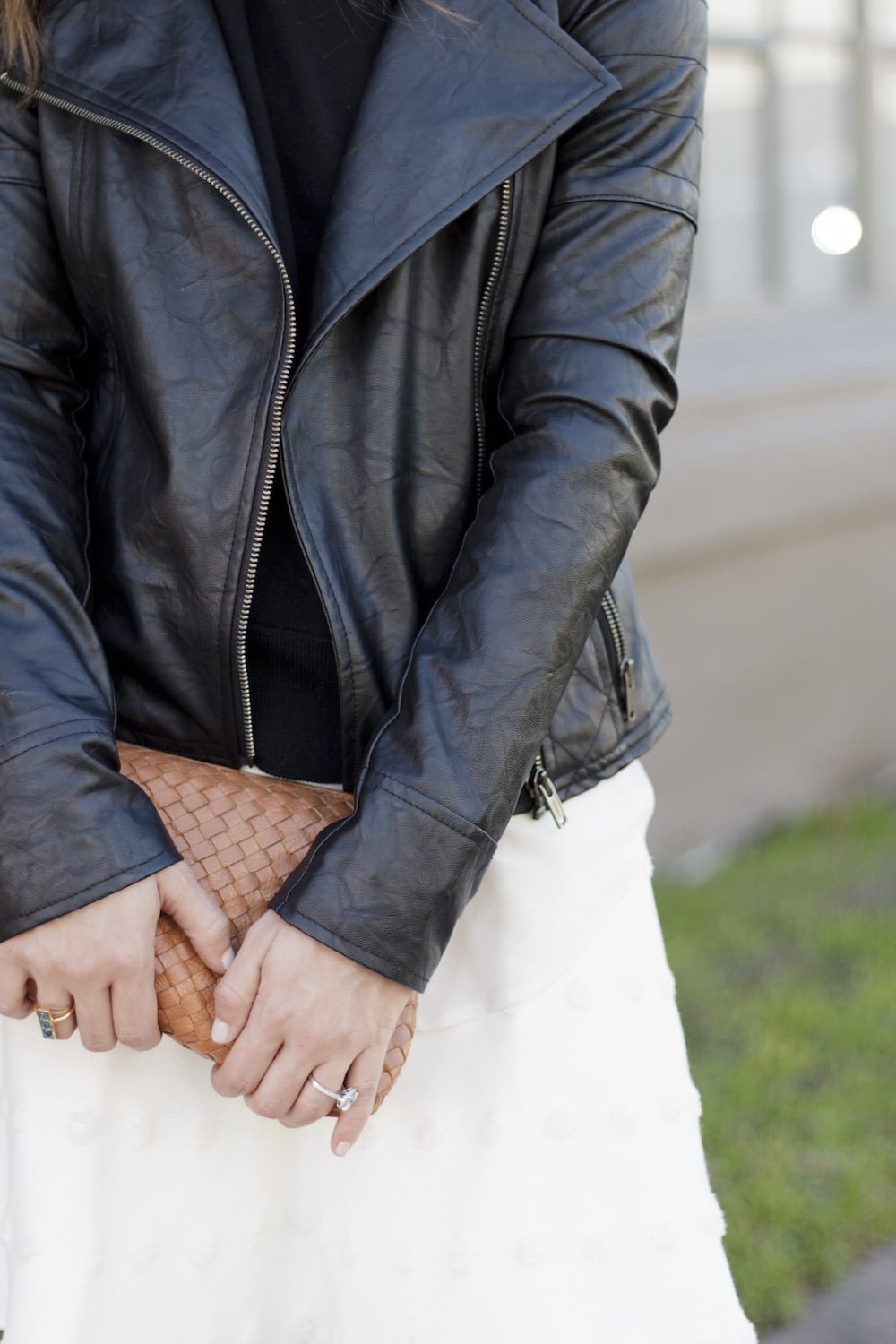 Leather Jacket and White Skirt_14