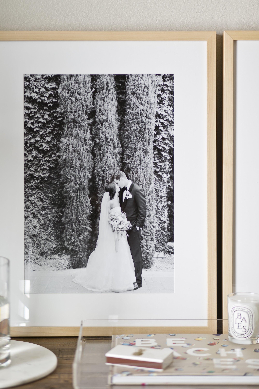 Wedding Photo framed by Framebridge