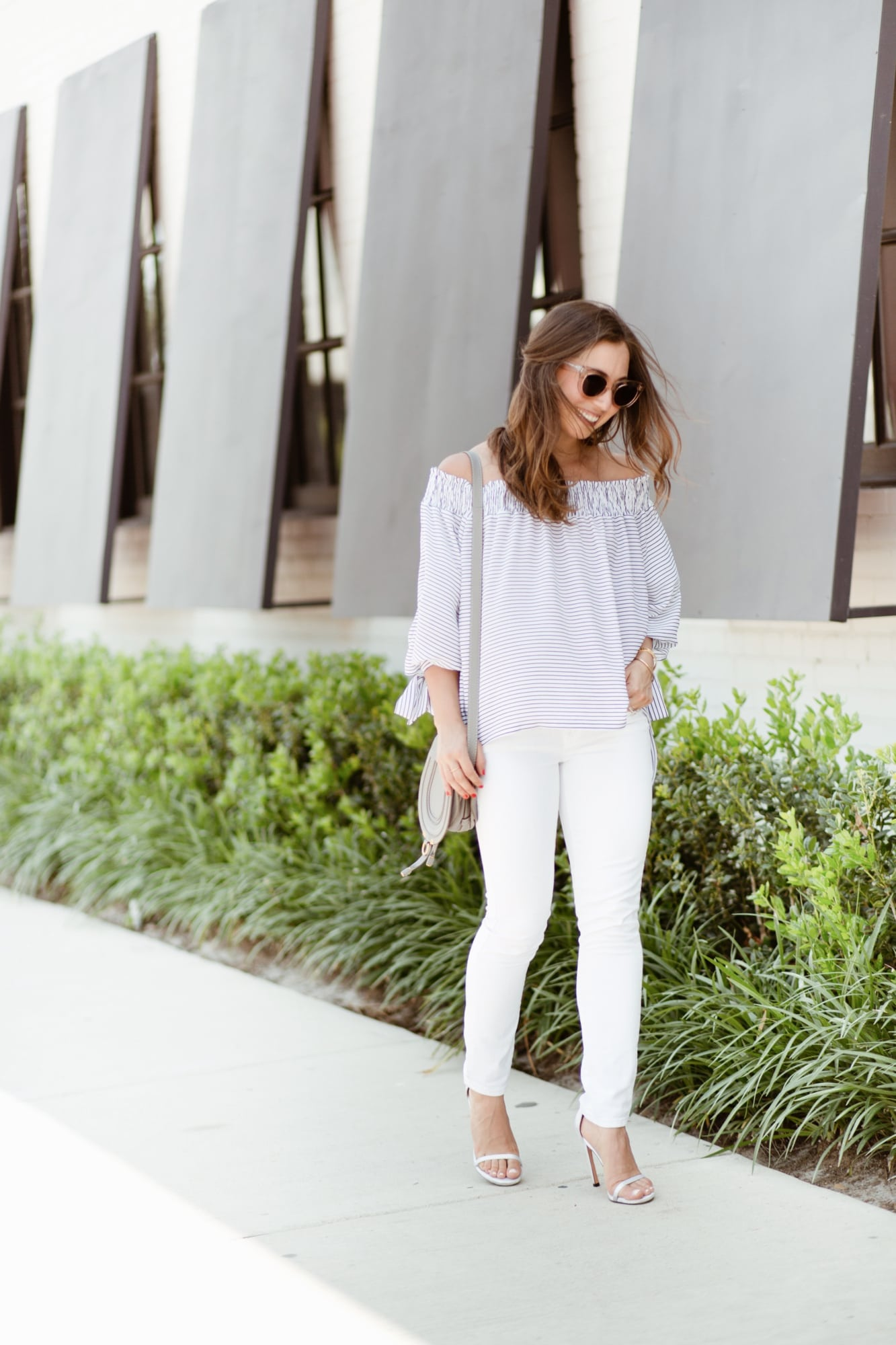 Off the Shoulder Top and Chloe Crossbody