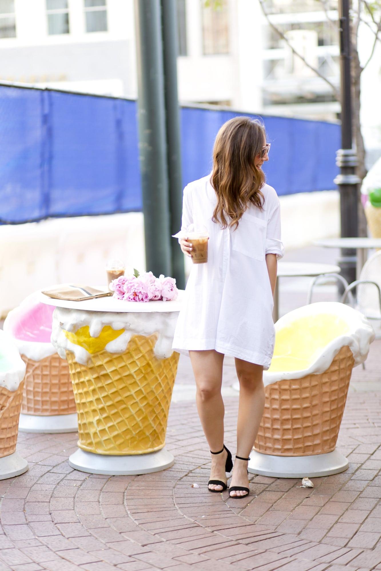 Club Monaco White Shirtdress
