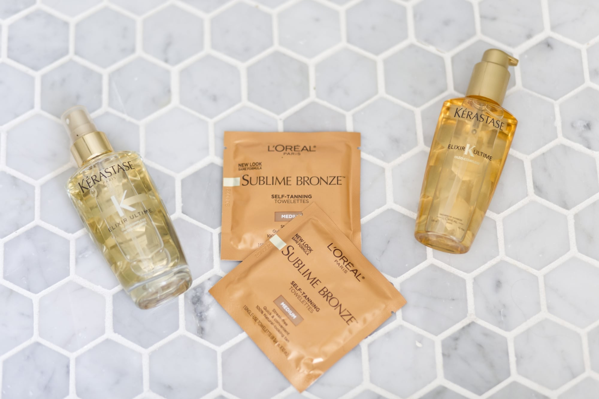 Kerastase Hair Products and Loreal Bronze Wipes
