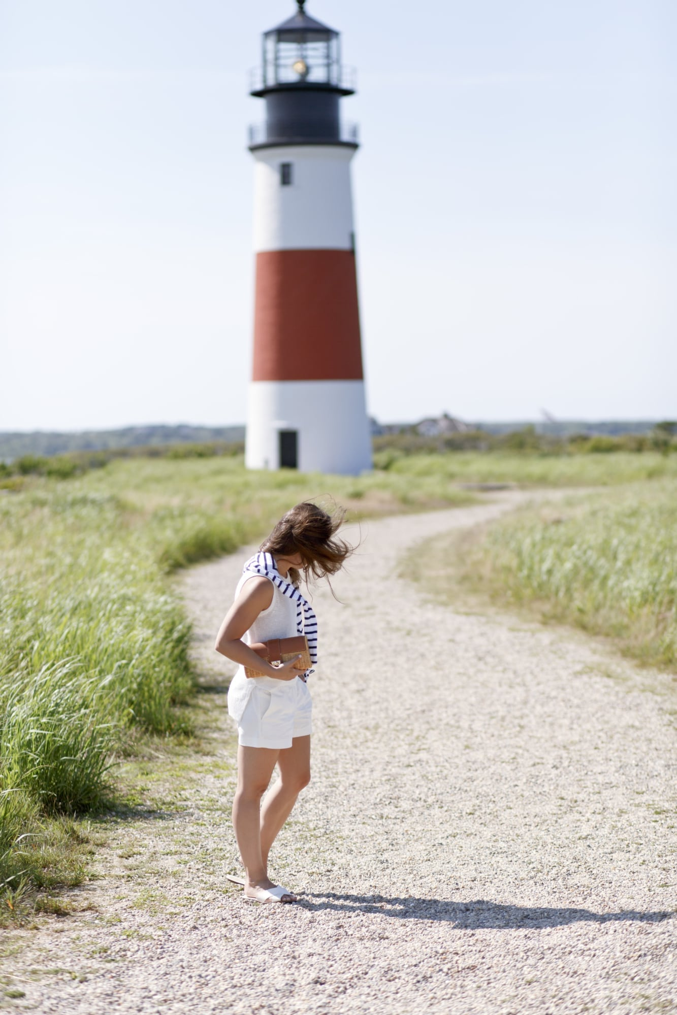 Stripes, White, and Lighthouse