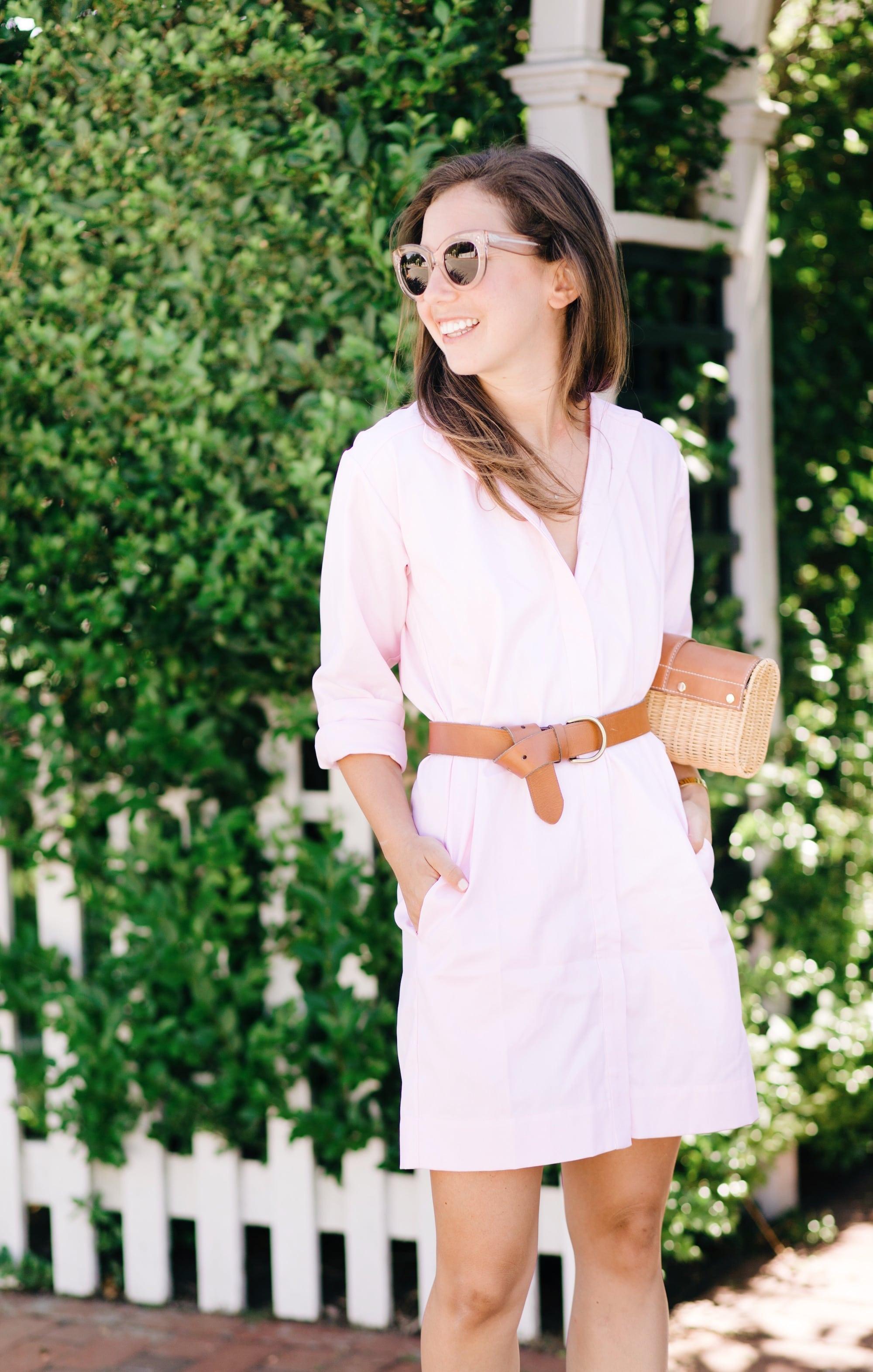 Micaela Meyer shirtdress with belt