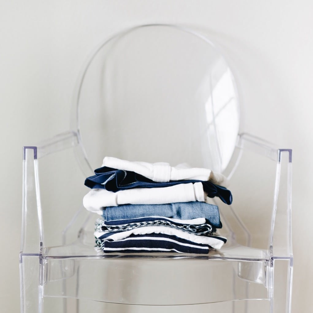 Nantucket Packing with Blue and White