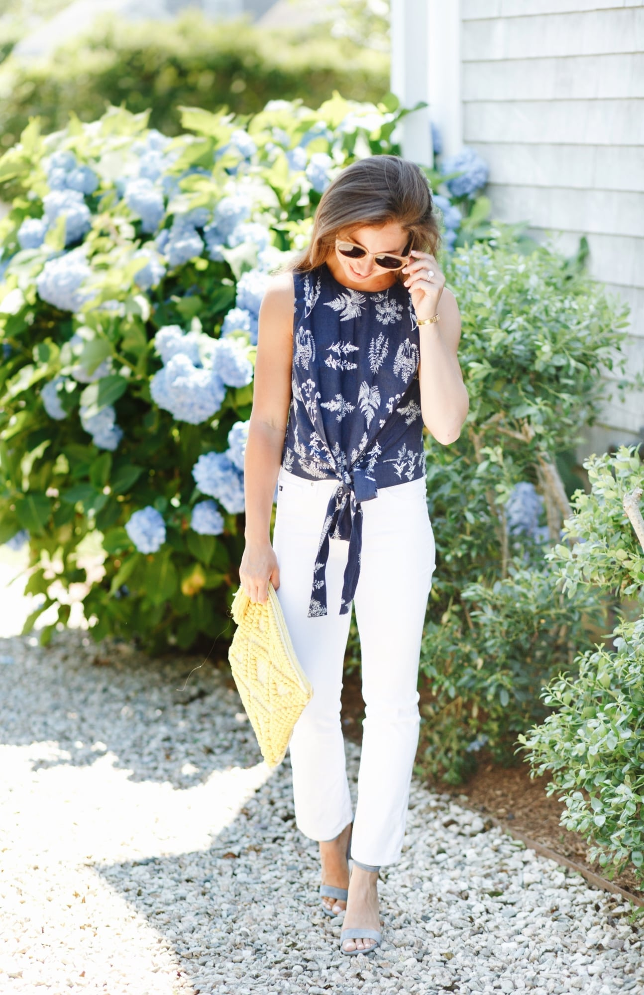 Navy and White Top from Tuckernuck