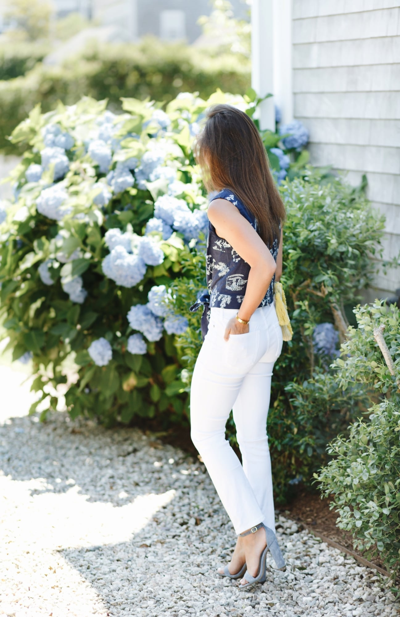 AG White Crop Jeans