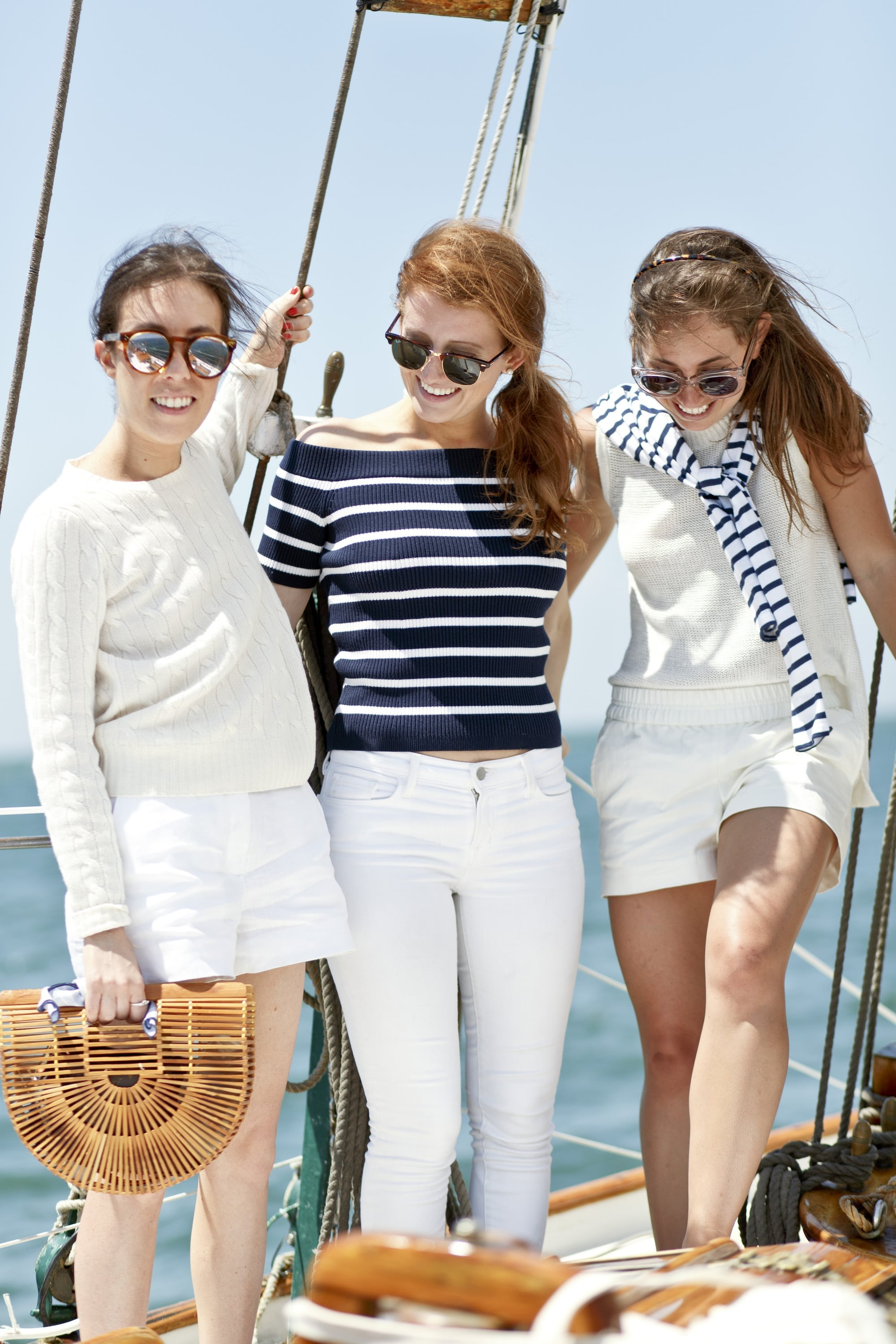 Amy, Mackenzie and Ali in Stripes and White