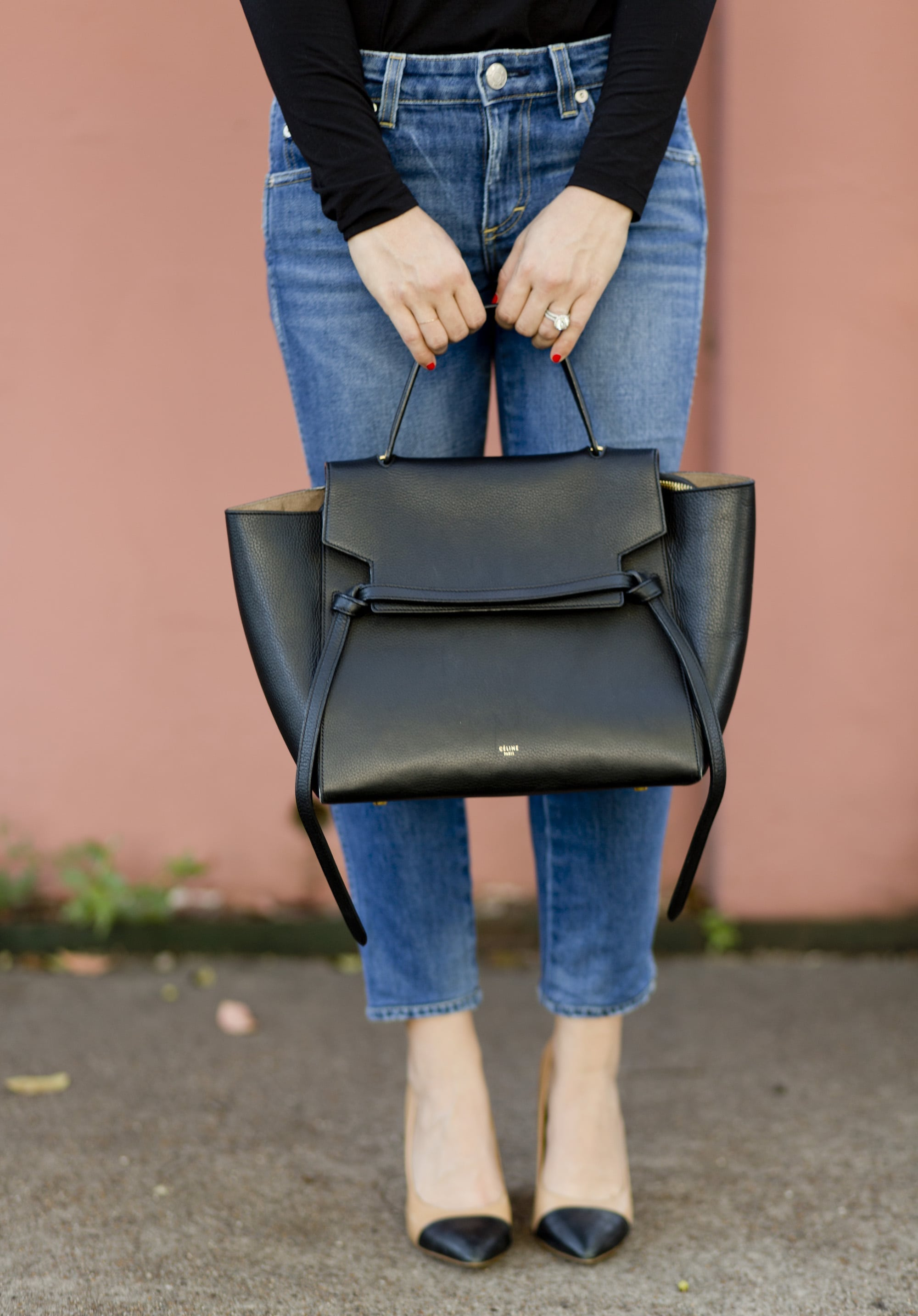 Denim and Celine Bag