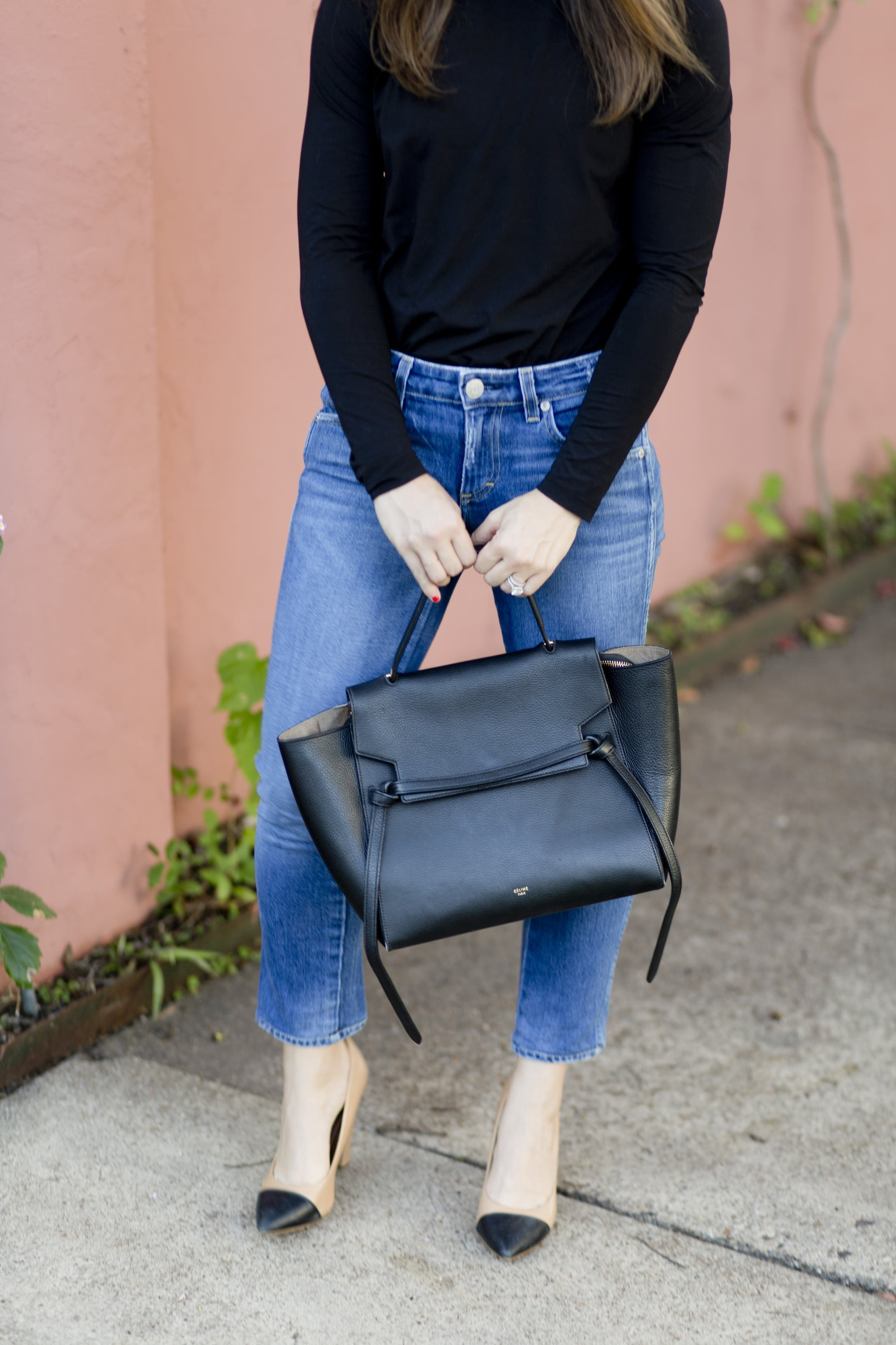 Black and Denim with Celine Bag