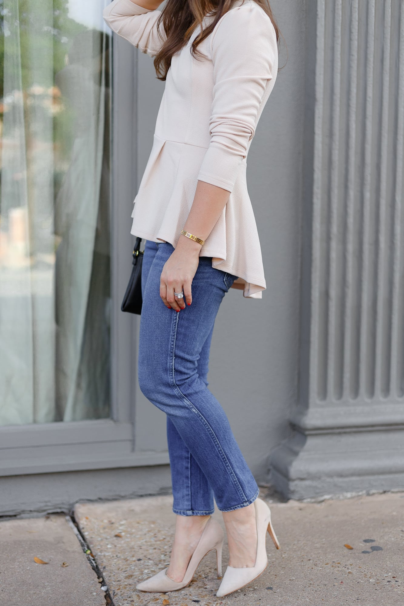A Dash of Details in Amo Denim and Pink Peplum