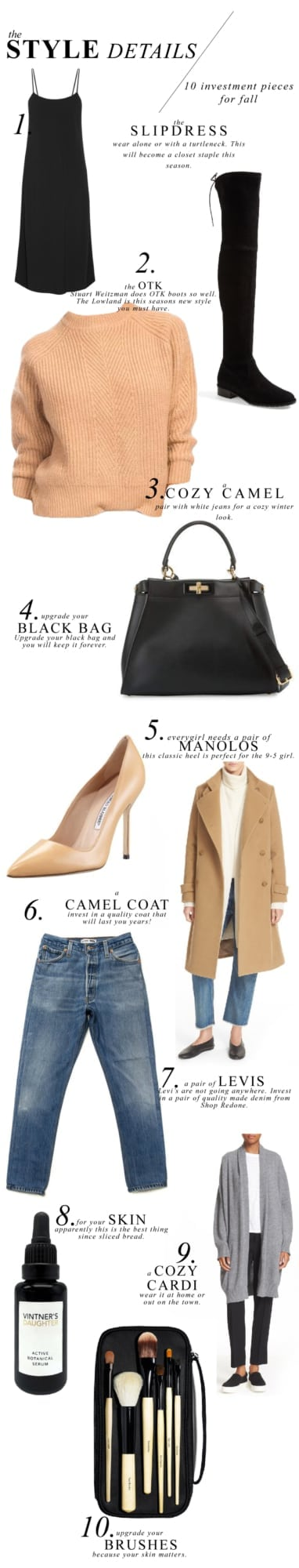 Style Details, 10 Investment Pieces for Fall