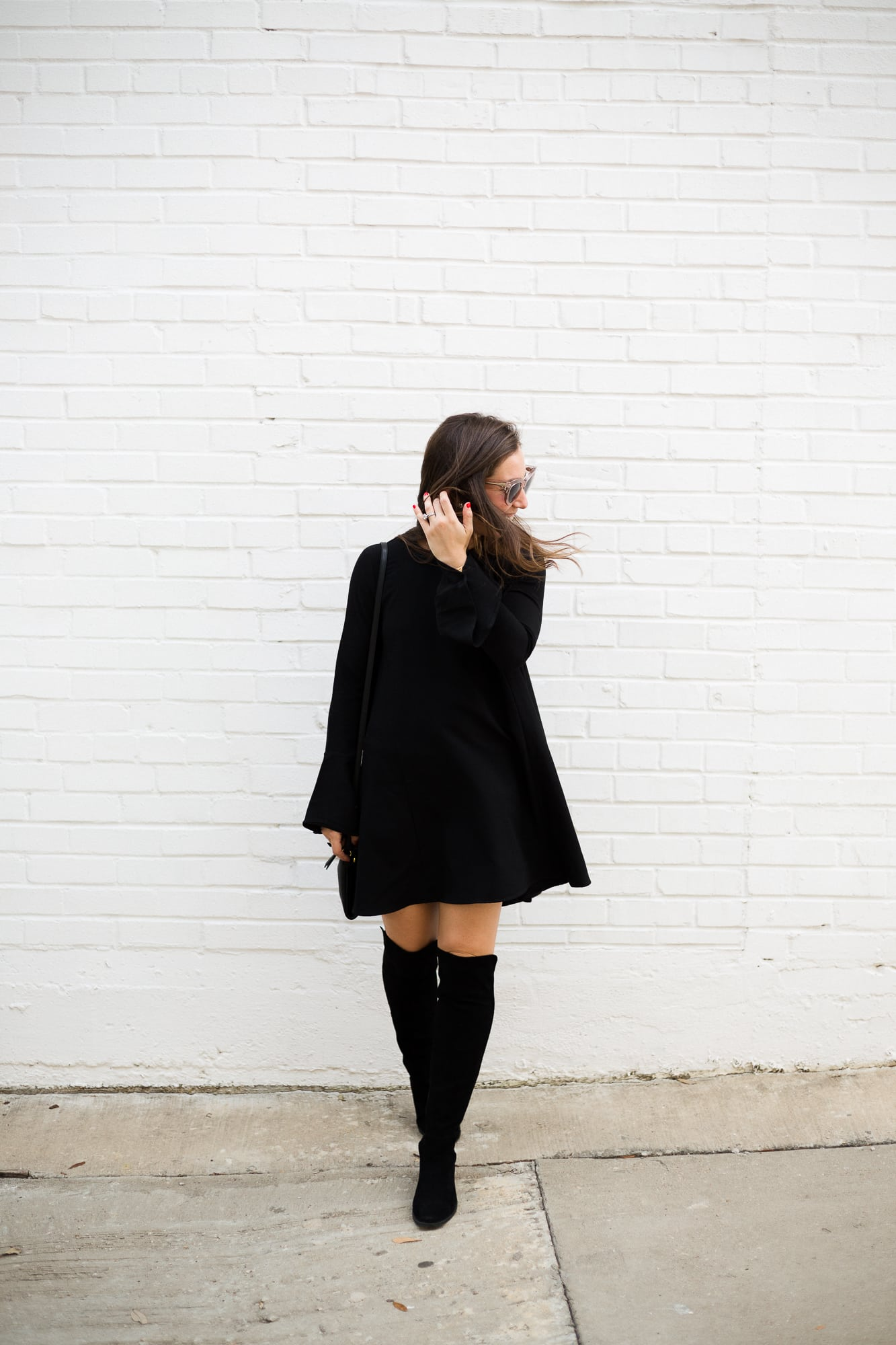 Black Flare Dress from Shopbop