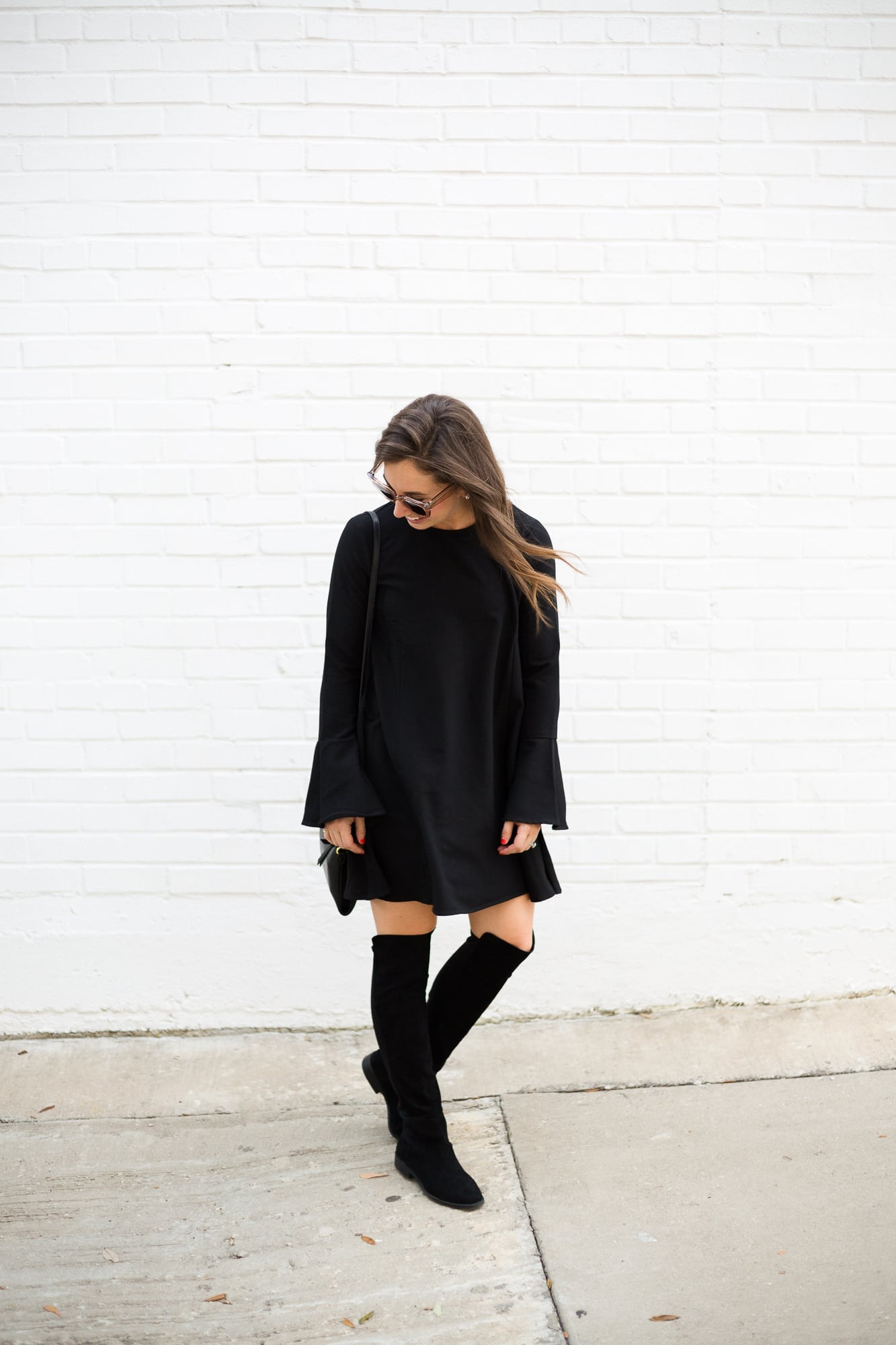 Black Dress and Over the Knee Boots
