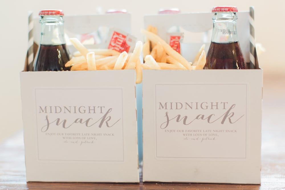 Midnight Snack idea for wedding