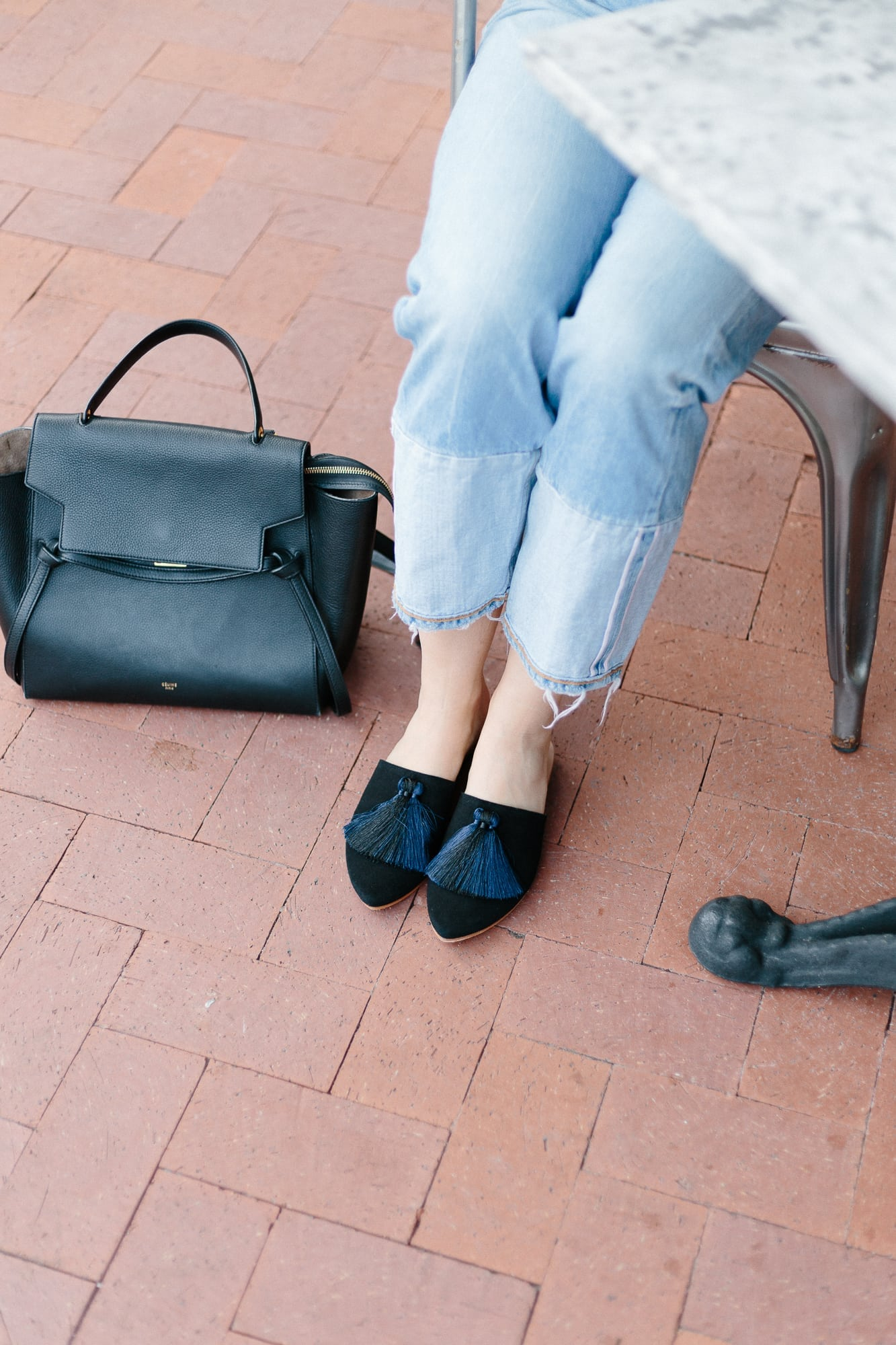 Winnie Babouche Mules and Celine Bag