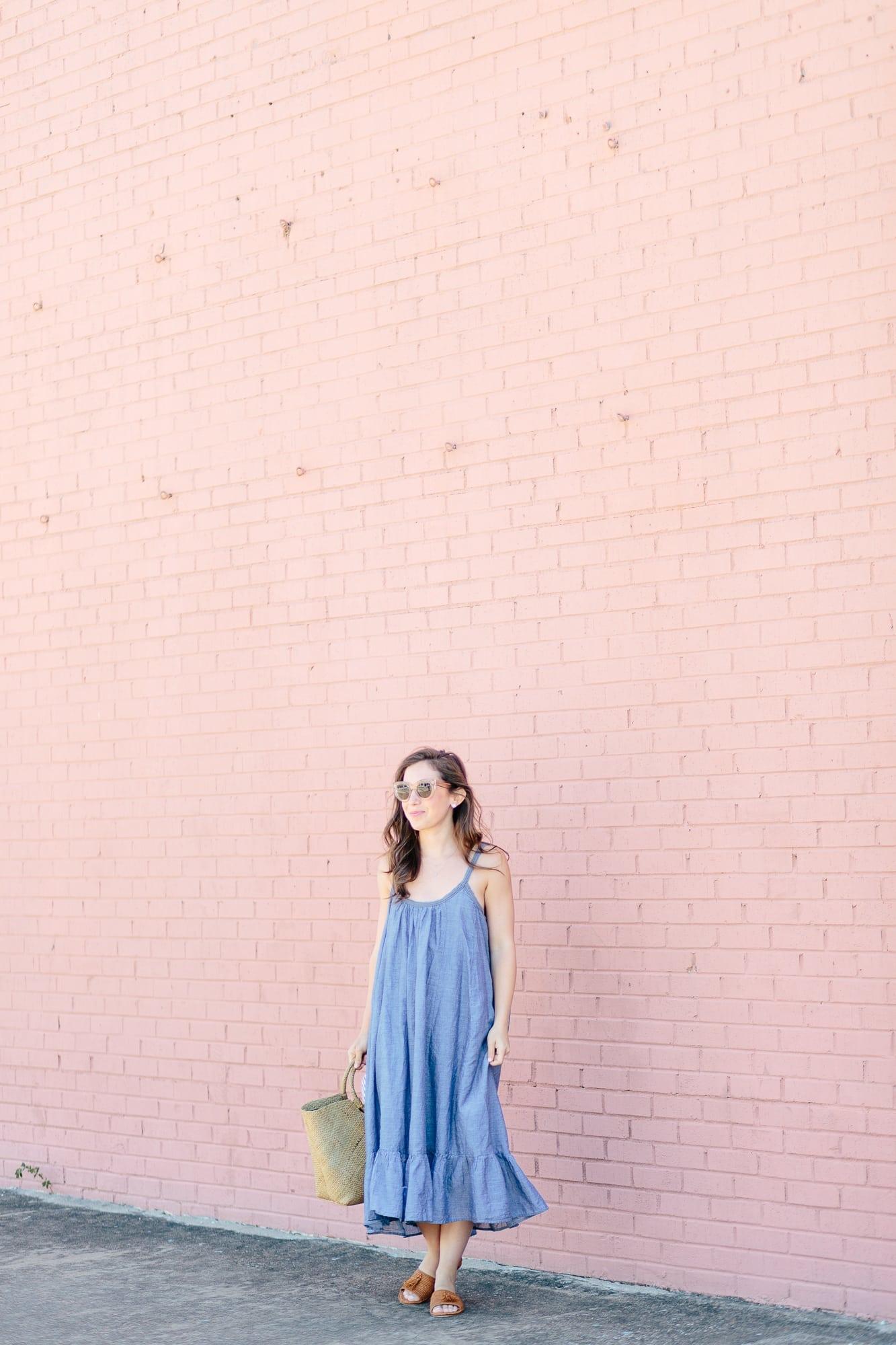 Vetiver Chambray Dress