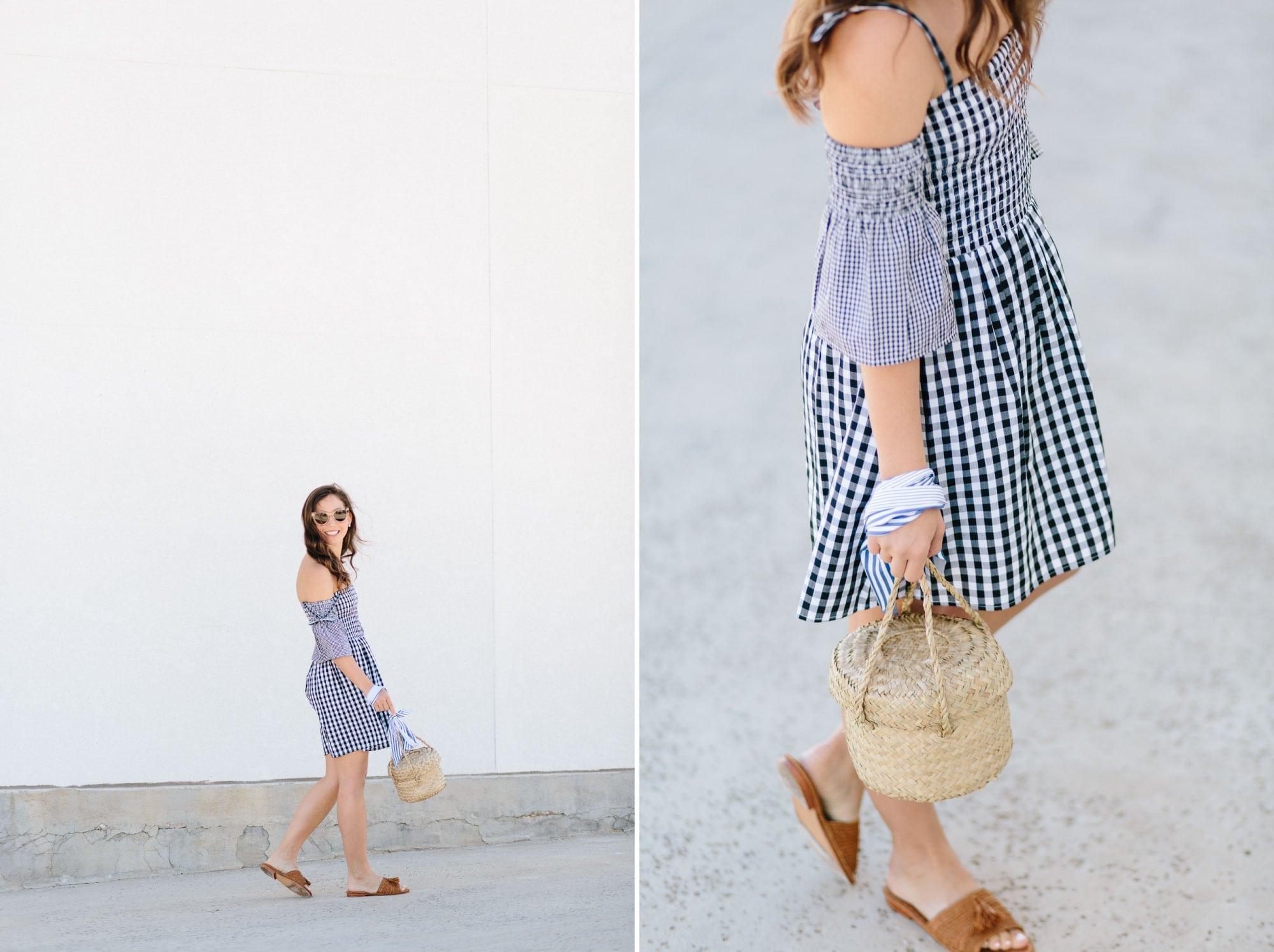 Gigham Dress Details from Shopbop