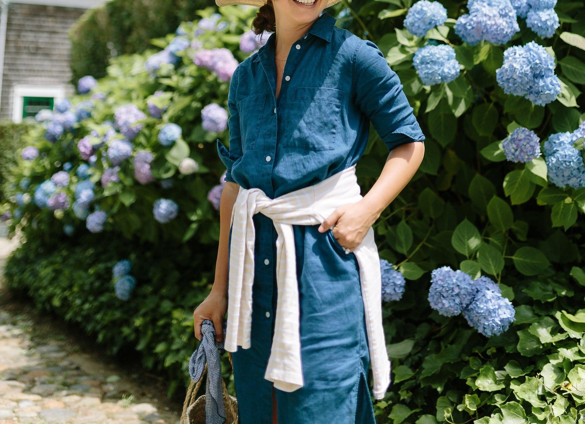 Indigo Everlane Shirtdress