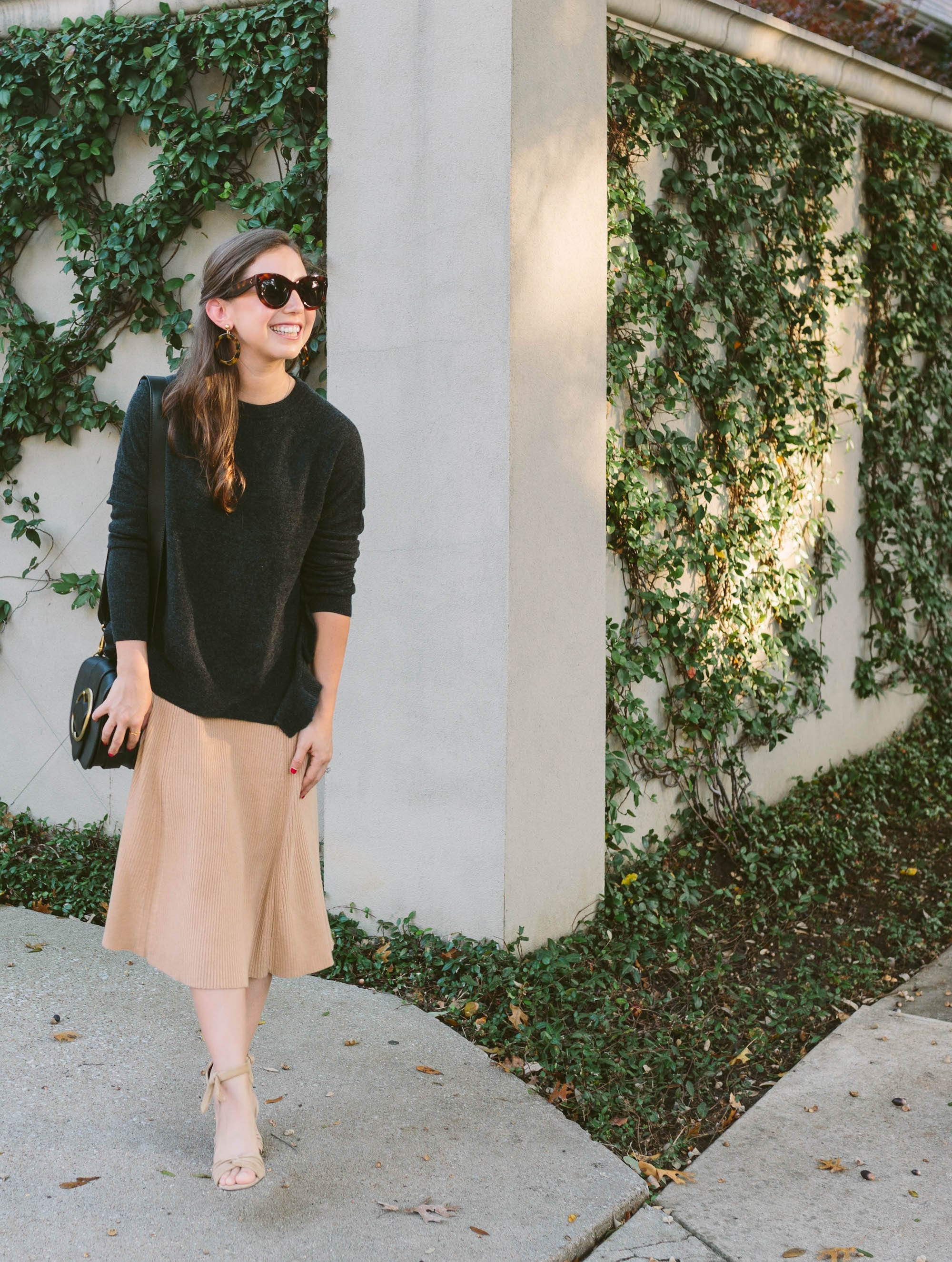 Cashmere Sweater and Banana Republic Sweater Skirt