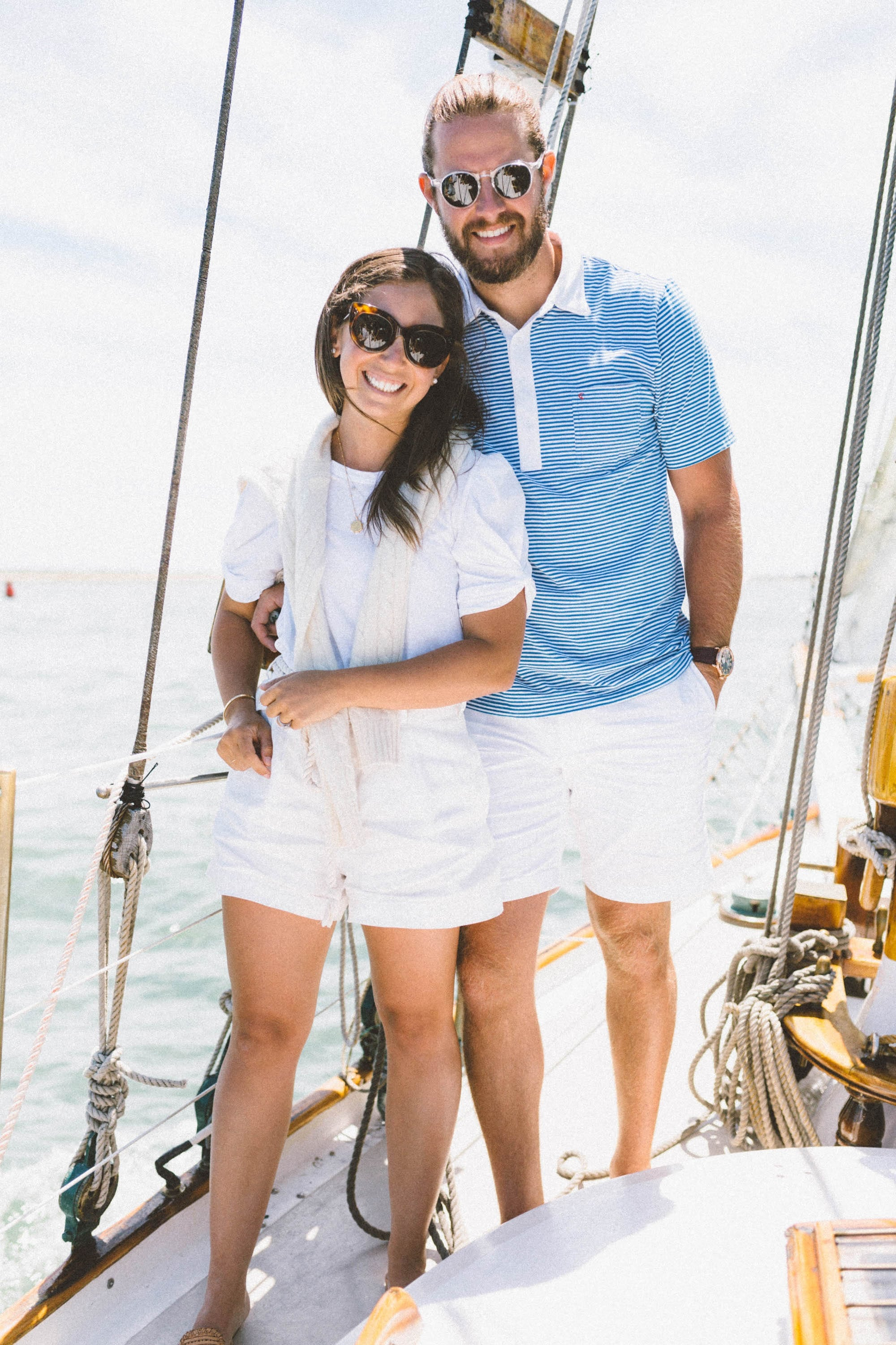 Couple Sailing in Nantucket