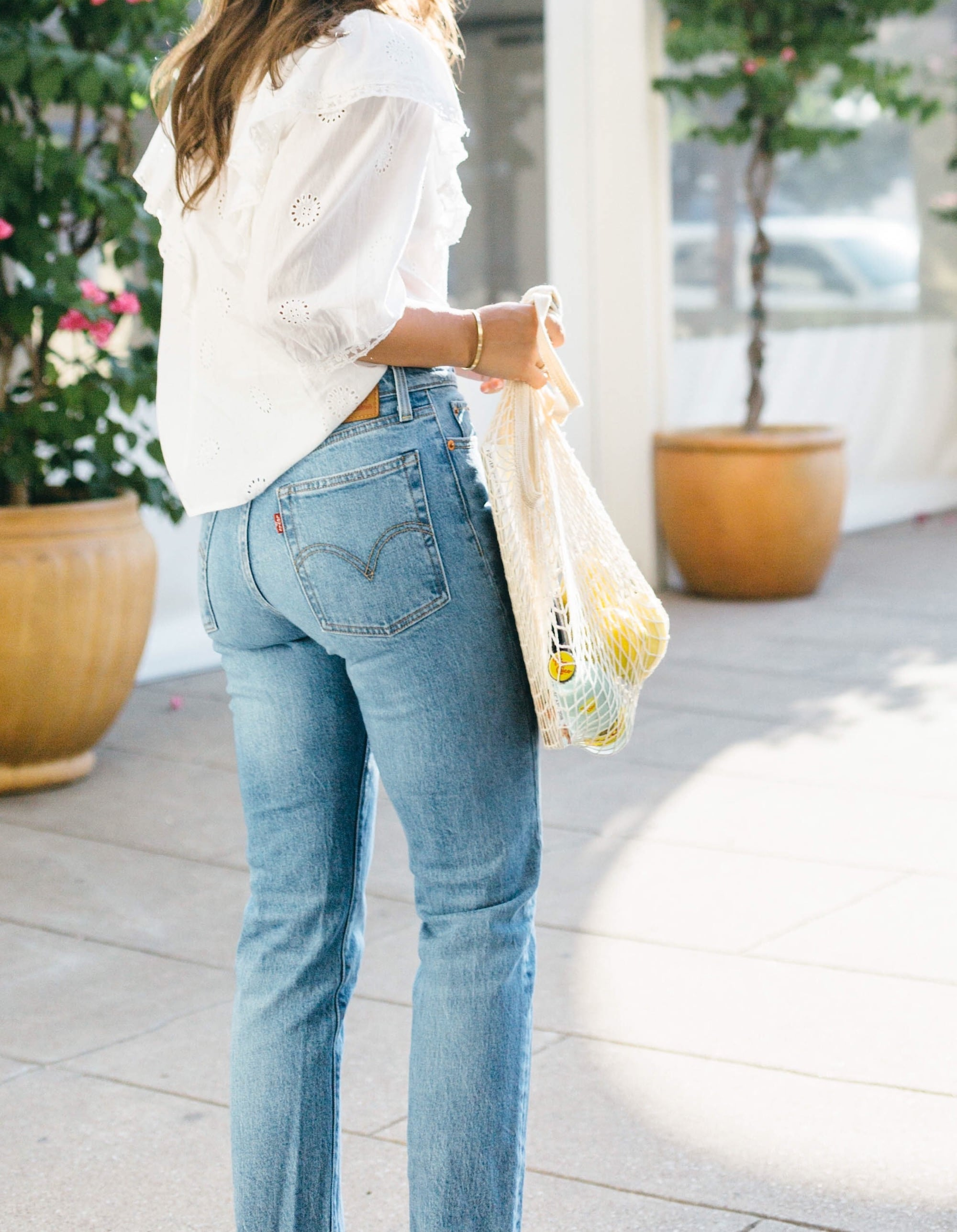 Levi Jeans and White Zara Top