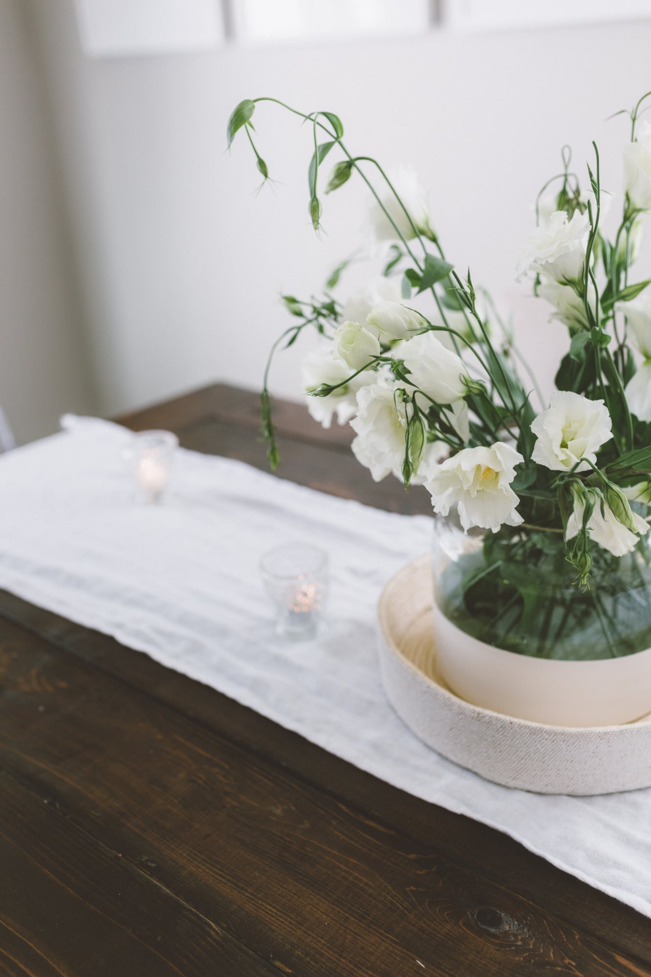 Flowers on dining table